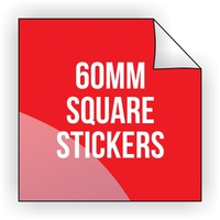 Square Vinyl Sticker 60mm x 60mm