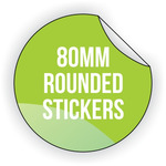 Round Vinyl Sticker 80mm x 80mm