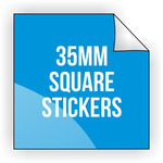 Square Vinyl Sticker 30mm x 30mm